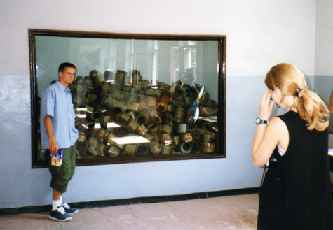 HONEY, GRAB A PICTURE OF ME WITH THE ZYKLON B!  (An American tourist wants Nazi poison gas in his vacation scrapbook)