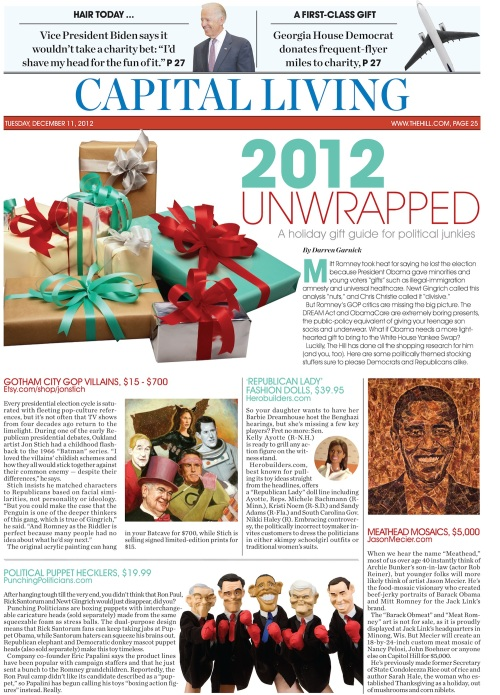 The 2012 Political Gag Gift Guide -- Part One (Double click to enlarge)