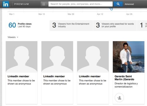 Linkedin stalkers