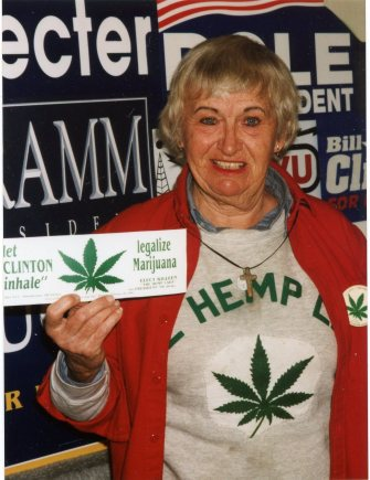 In 1996, longshot presidential candidate Caroline Killeen mocked President Bill Clinton for saying he once tried marijuana, but didn't breathe in the smoke.