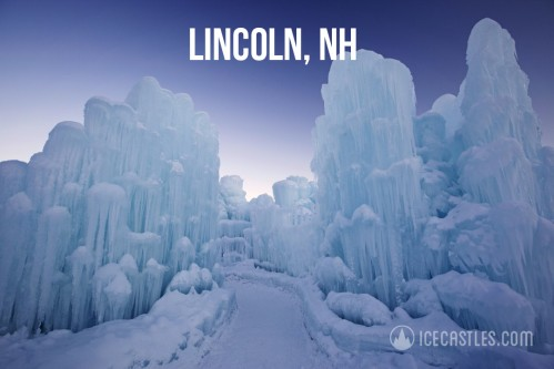Bait-and-Switch: The glorious advertised image of the New Hampshire Ice Castles (source: Icecastles.com/lincoln/)